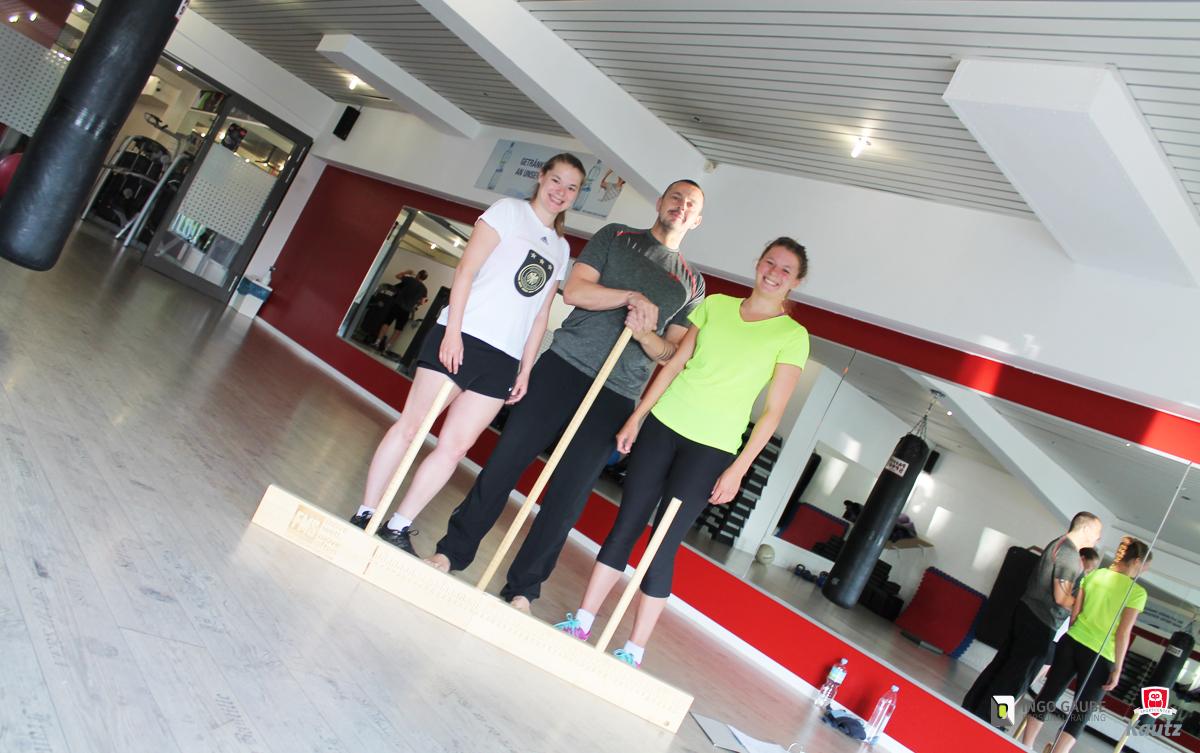 Personaltrainer Ingo Gaube Training mit Profi Sportlerinnen.
